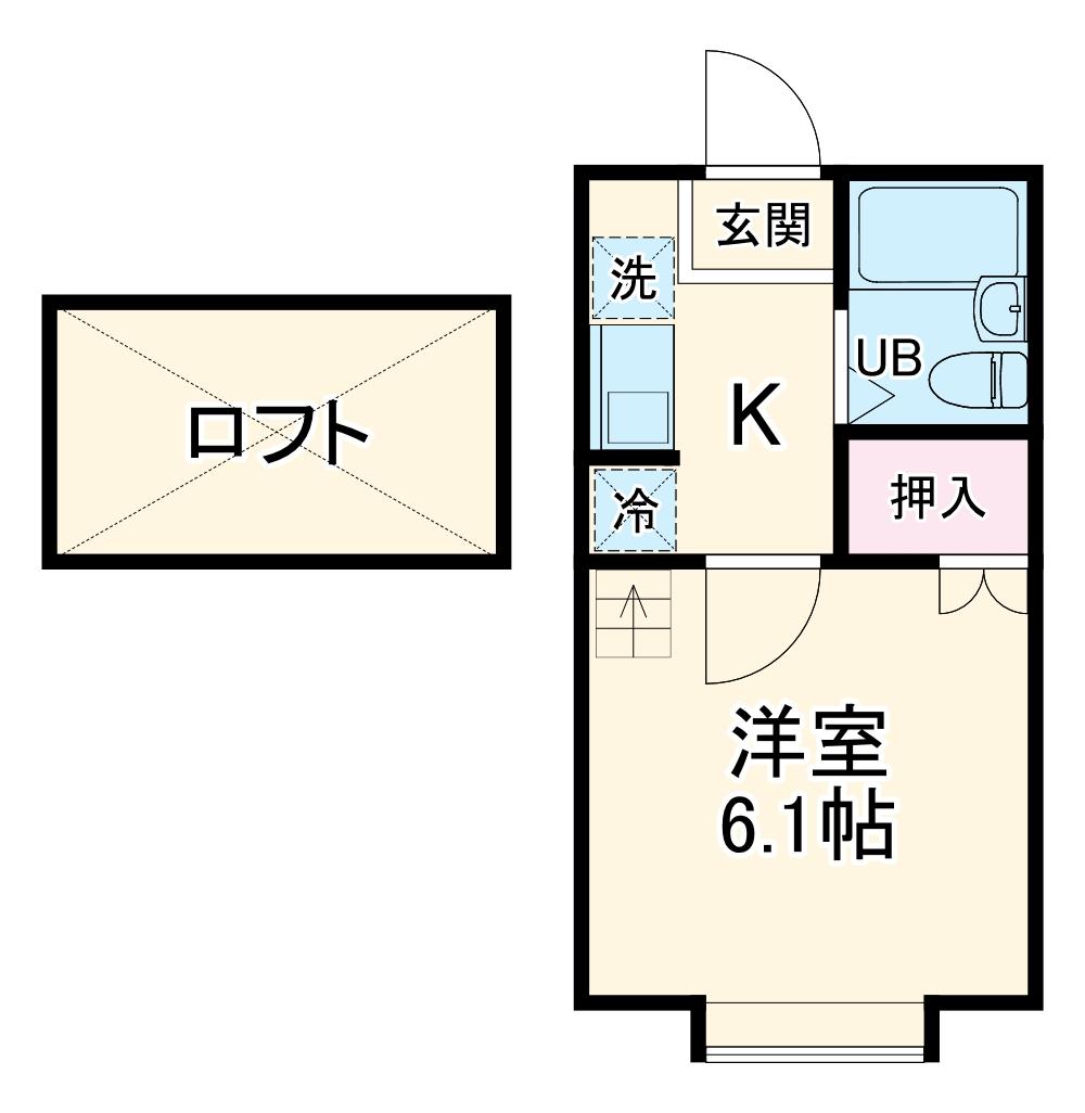 ミューズイン藤沢B・102号室の間取り