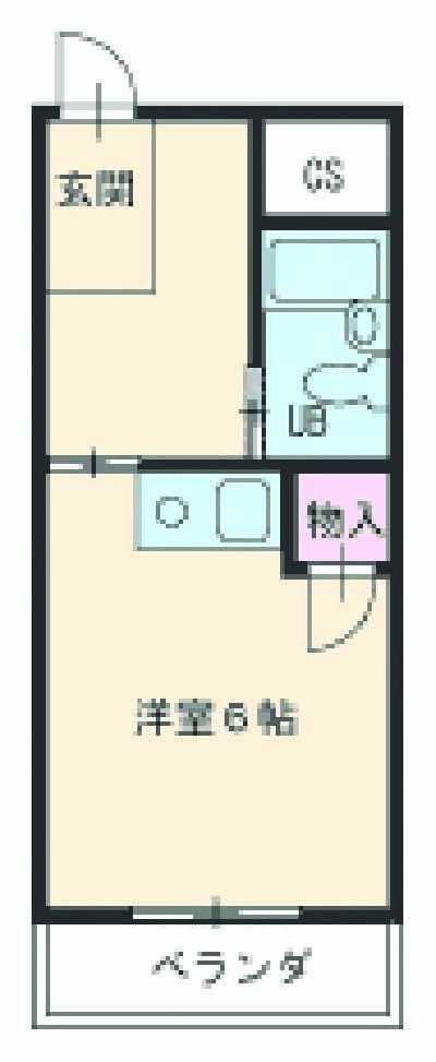 シャトレ高柳・3-E号室の間取り