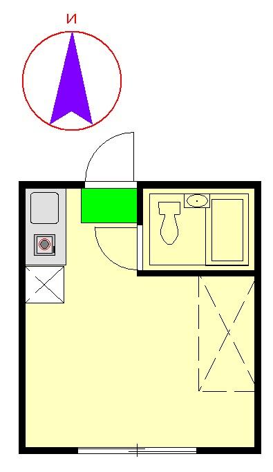 ラ・カシータ久が原 105号室の間取り