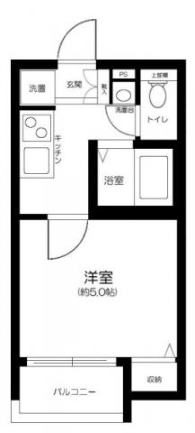 メゾン・ド・ソレイユ蒲田 104号室の間取り