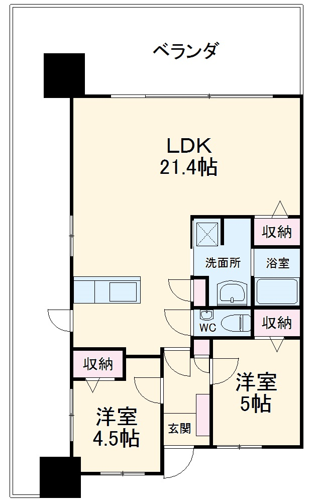 ミルコマンション沖縄市与儀グランパーク 1405号室の間取り