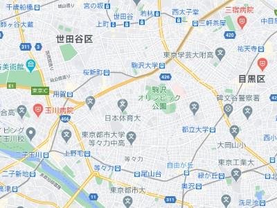 キングハウス世田谷上町の地図