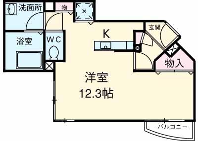 TK田園調布レディースフラッツ・2-210号室の間取り