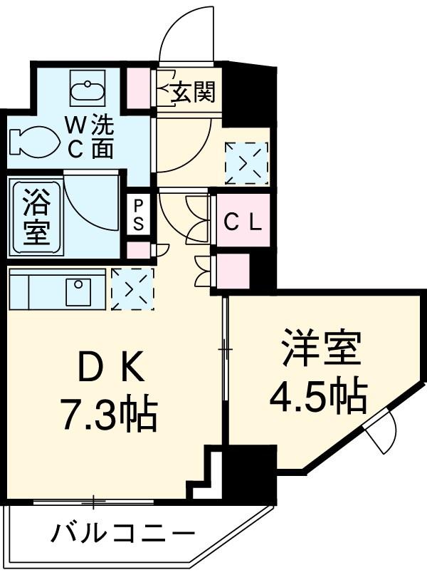 クレヴィアリグゼ三軒茶屋・1305号室の間取り