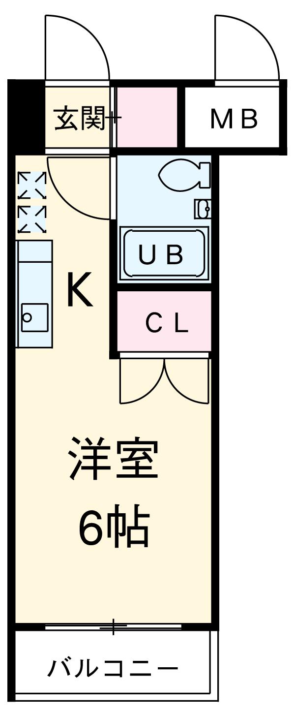 ダイナコート箱崎・102号室の間取り