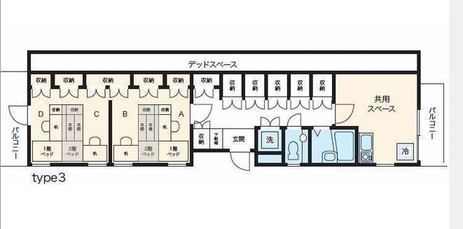 TCRE目黒本町・303B号室の間取り