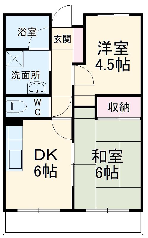 第9エルム大倉山・207号室の間取り