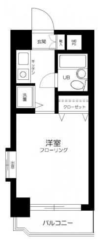 ライオンズマンション仲六郷・801号室の間取り