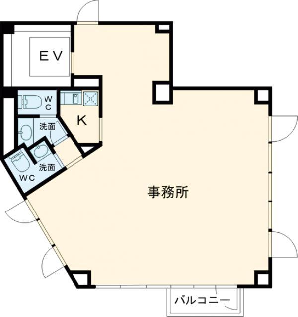 センチュリオン六本木タワーⅡ・6F号室の間取り