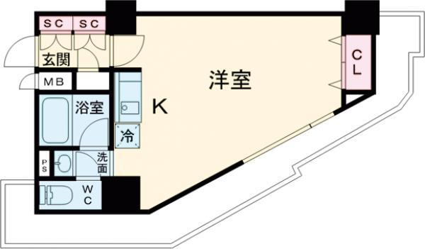HF駒沢公園レジデンスTOWER・2004号室の間取り