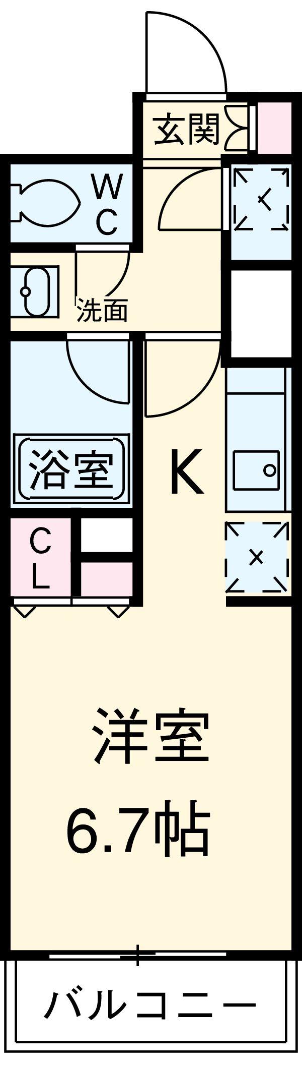 HF駒沢公園レジデンスTOWER・206号室の間取り