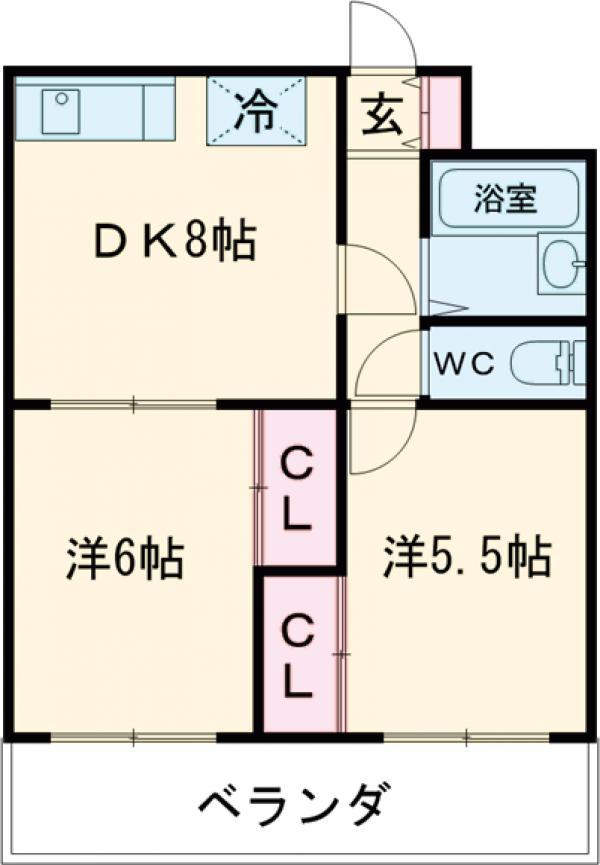 アルカディア駒沢・202号室の間取り