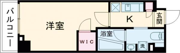 ステージファースト世田谷アジールコート・404号室の間取り