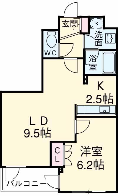 スペーシア三軒茶屋弐番館・202号室の間取り