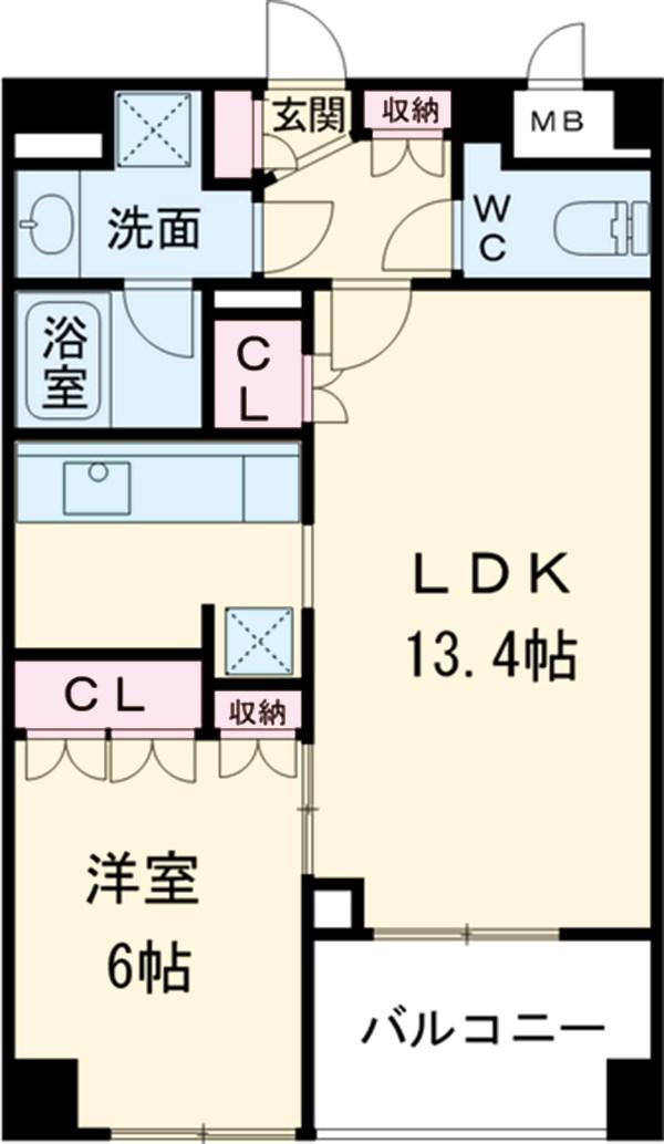 スペーシア三軒茶屋弐番館・211号室の間取り