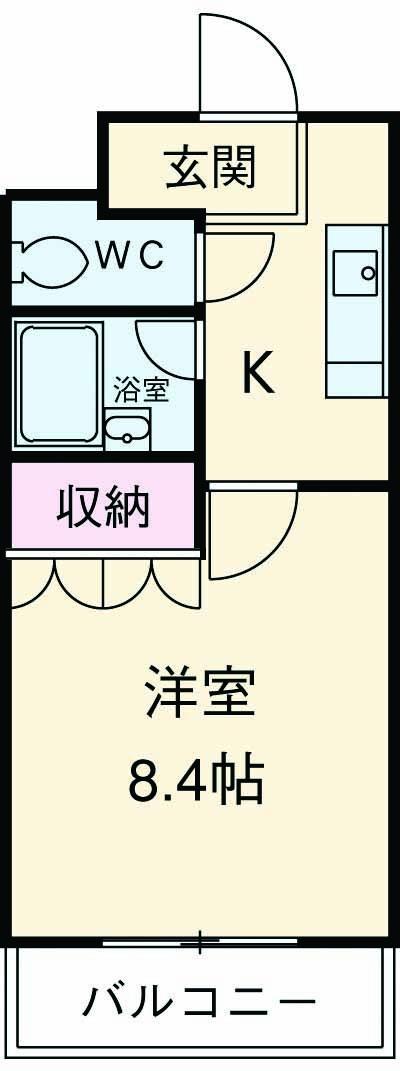 スペーシア三軒茶屋弐番館・505号室の間取り