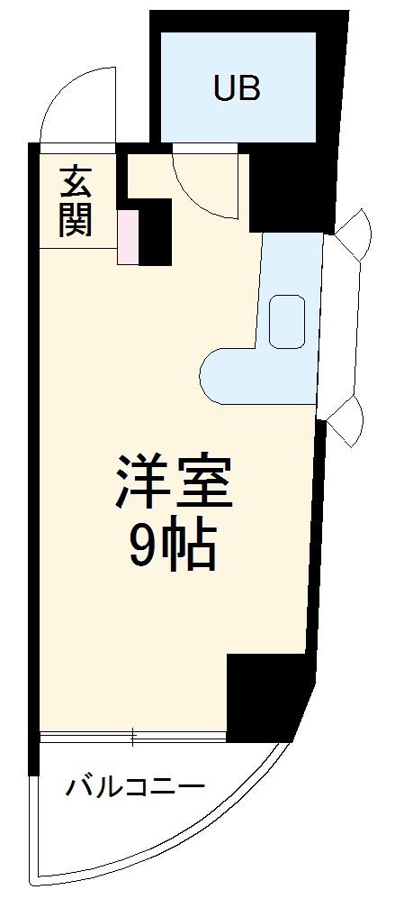 ロマネスク博多駅前・324号室の間取り