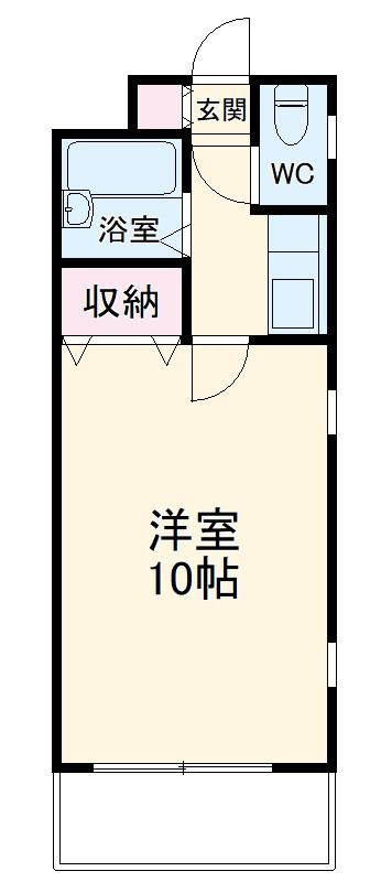 ステイタスマンション平和 205号室の間取り
