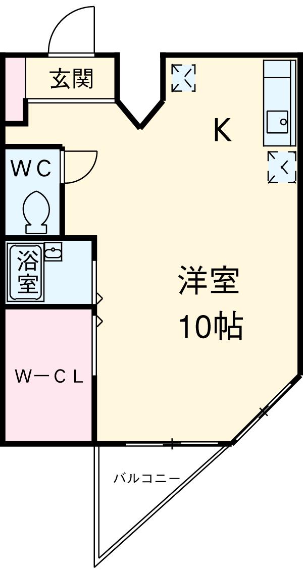 THE HOMESTED(ザホームステッド)・2-C号室の間取り