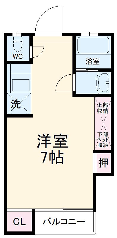 ソミュール七星No.11 102号室の間取り