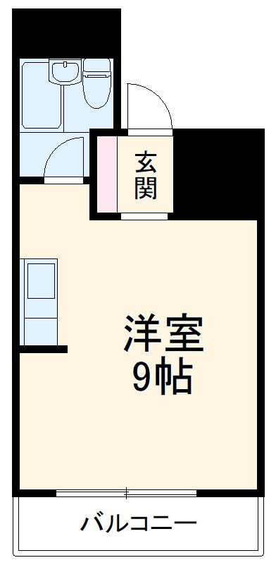 博多ニッコーハイツアネックス・603号室の間取り