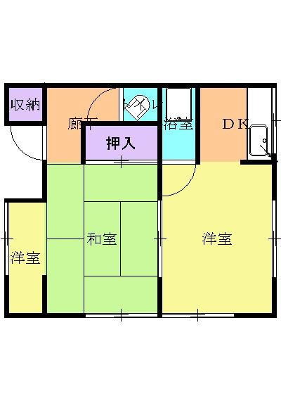 松井アパート 1号室の間取り