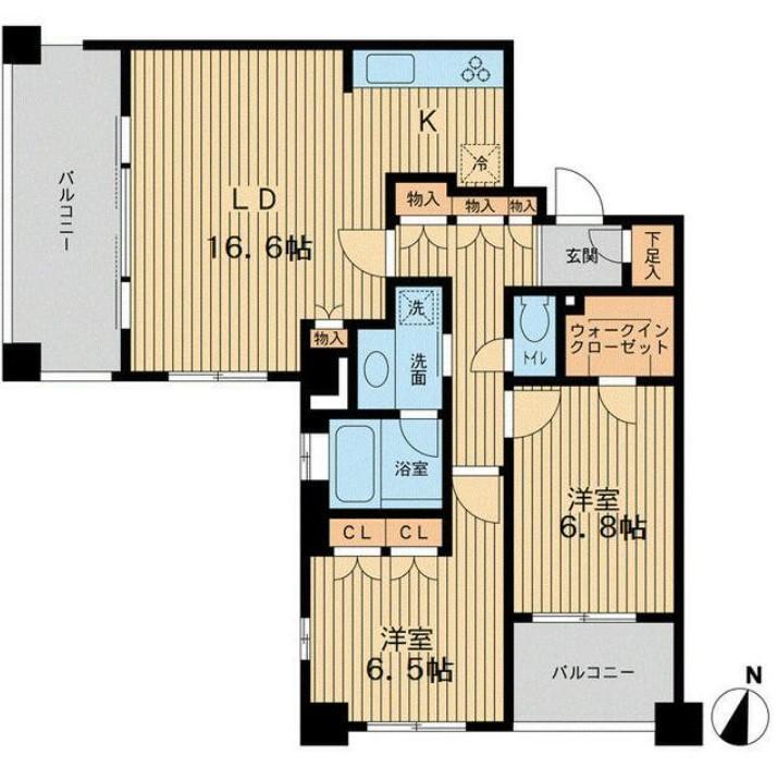 アーデン駒沢パークフロント・602号室の間取り