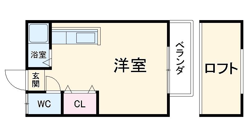パークアベニュー井尻・103号室の間取り