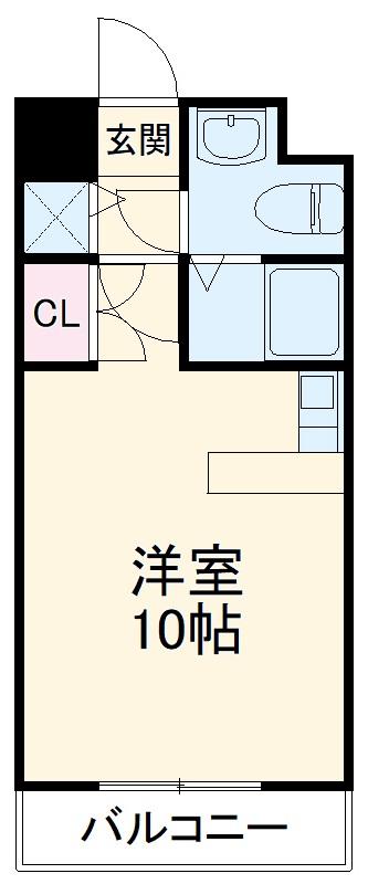 カーサ箱崎・603号室の間取り