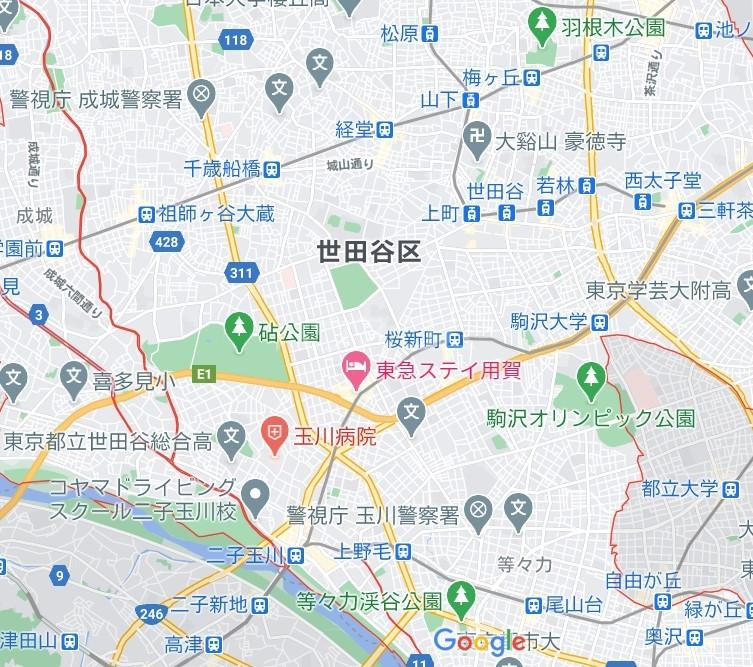 グレース桜 213号室の地図