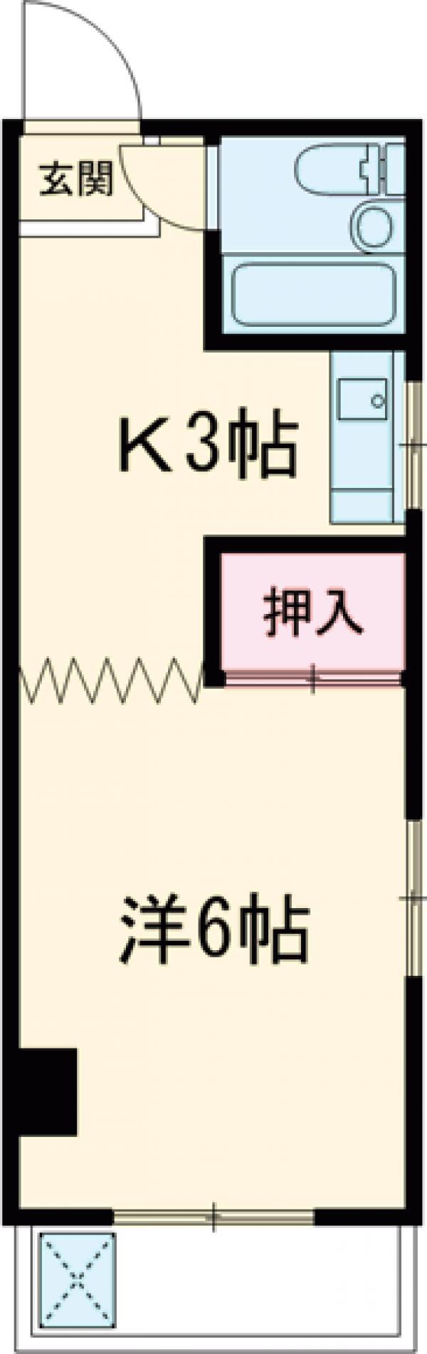 佐野マンション・101号室の間取り