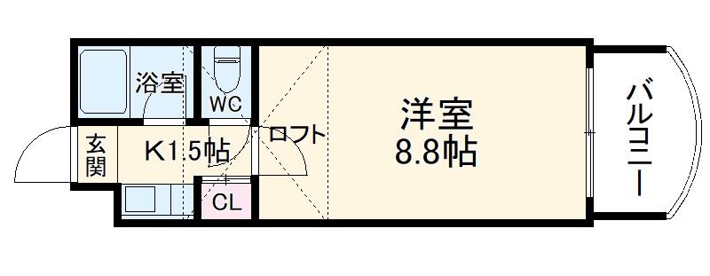 プラン・ド・ビ藤崎 305号室の間取り