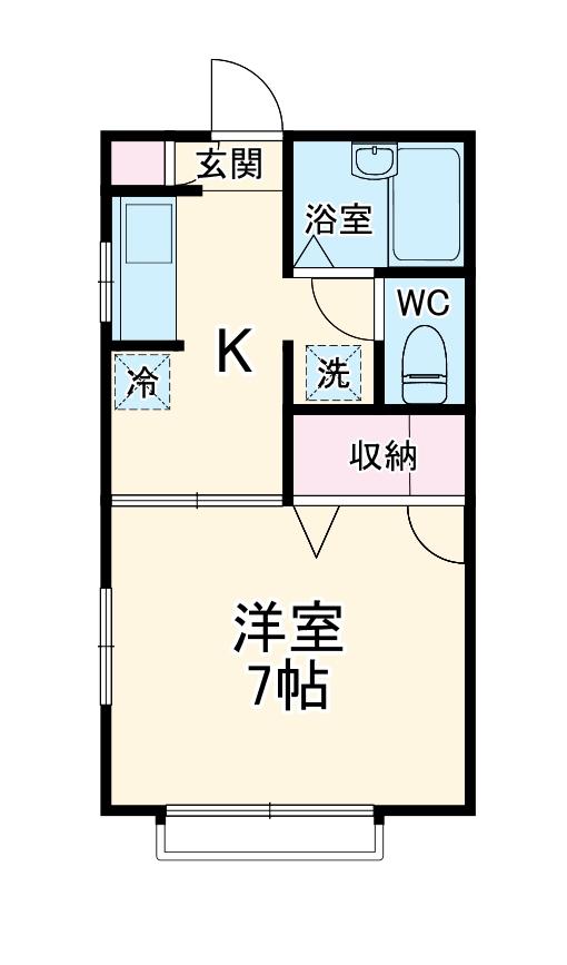 エルム新横浜・103号室の間取り