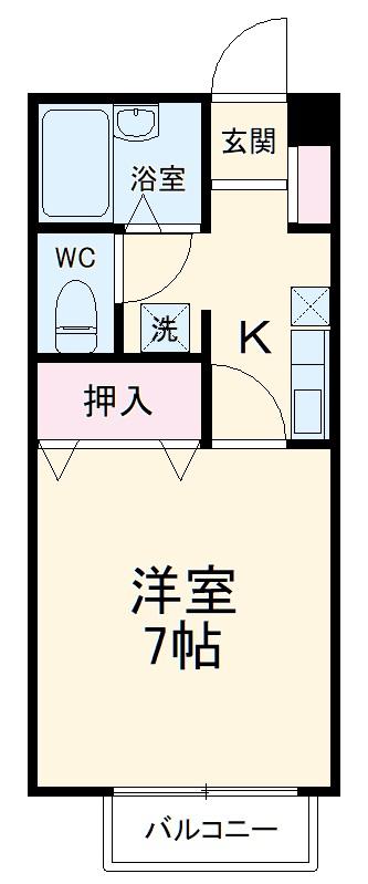 エルム新横浜・201号室の間取り