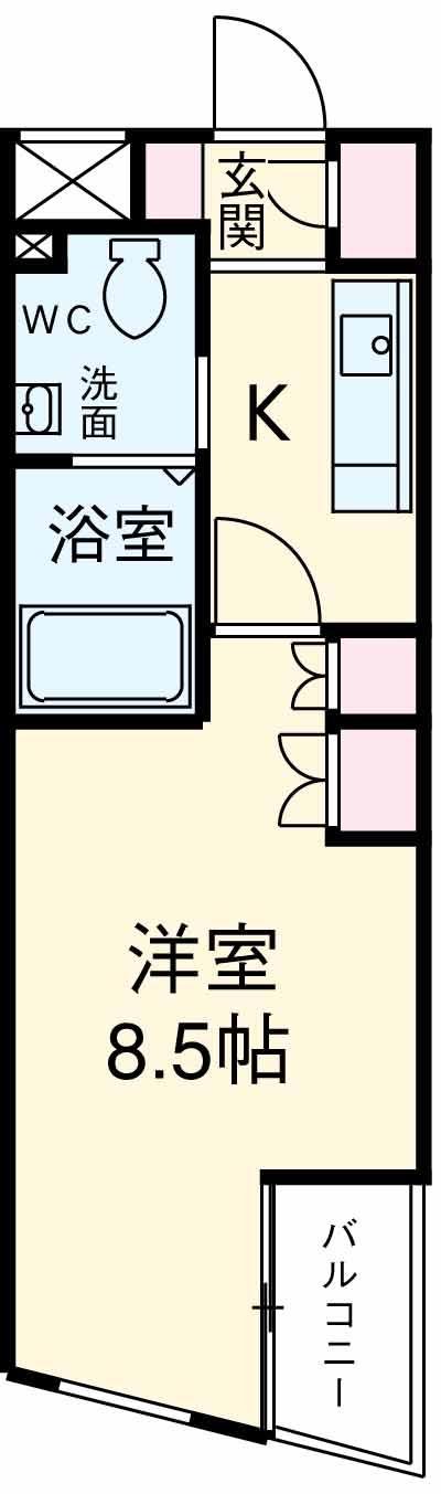 KDXレジデンス三宿・301号室の間取り