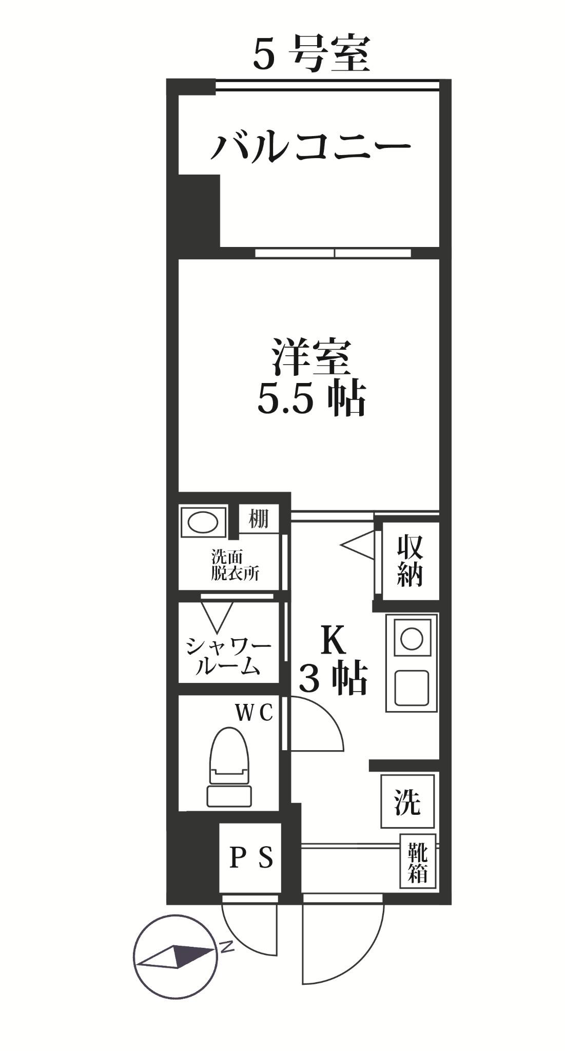 MODERN PALAZZO 西新SUR・305号室の間取り