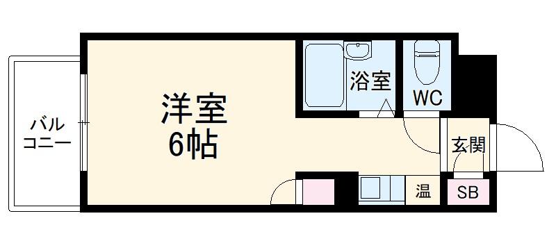 ロマネスク平尾第3・504号室の間取り