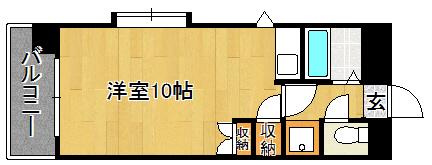 Kステーションプラザ八田・101号室の間取り