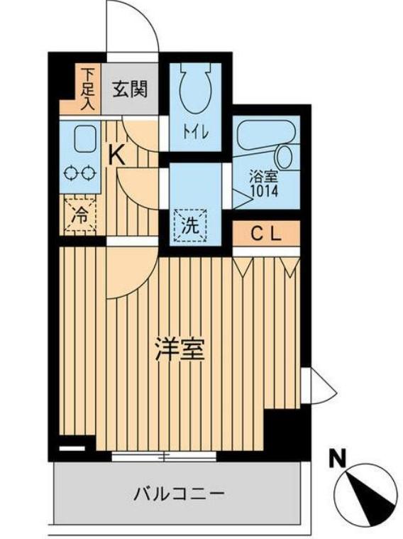 アーデン駒沢大学・802号室の間取り