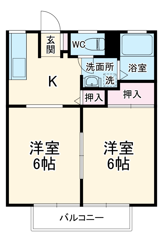 柴田ガーデンハイツF棟・201号室の間取り