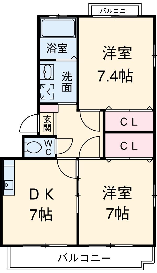 レ・セゾンKAWADA Ⅰ・302号室の間取り
