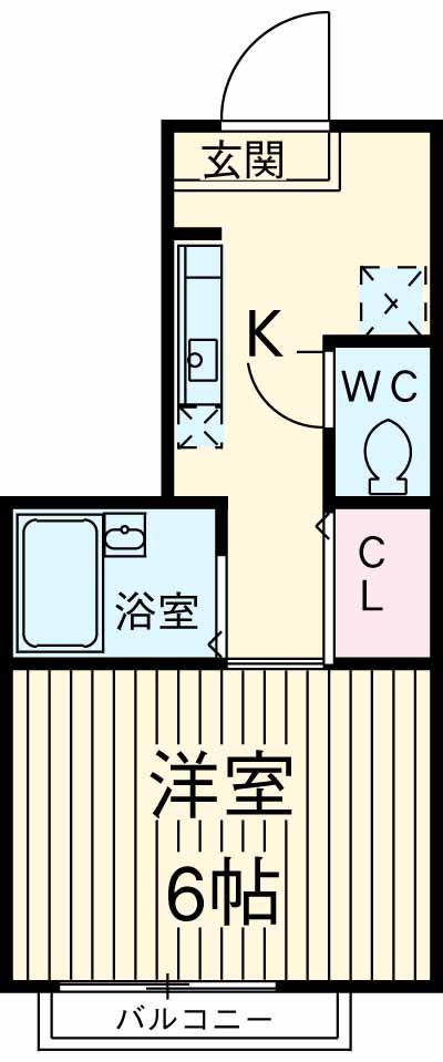 ラップハウス世田谷・202号室の間取り