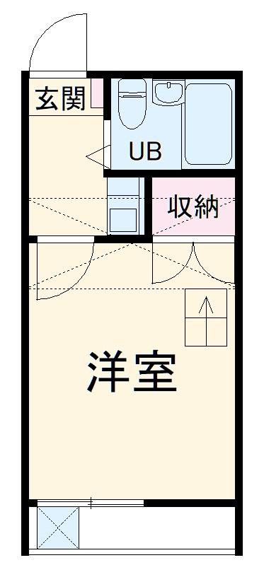 ユトリロ平川本町 203号室の間取り