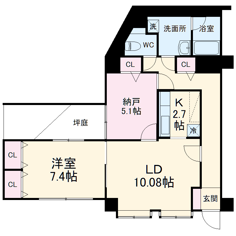 コア・シティ新横浜 101号室の間取り
