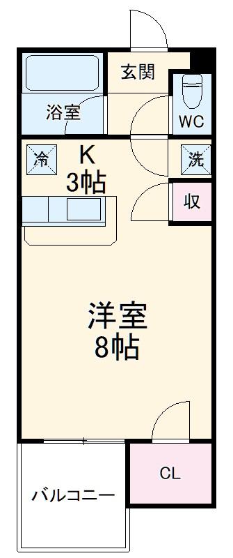 セザンヌ松井・115号室の間取り