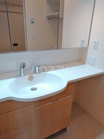 グリーンステージ松井A 201号室の洗面所
