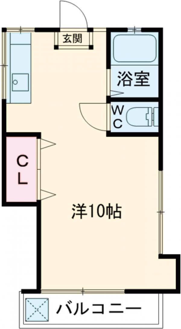 松風荘・21号室の間取り
