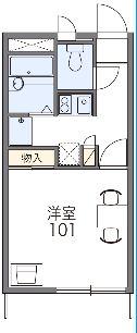レオパレスSHIZU・103号室の間取り
