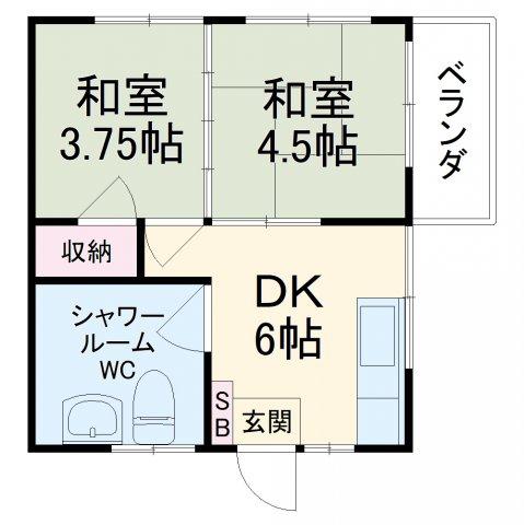 国吉アパート・301号室の間取り