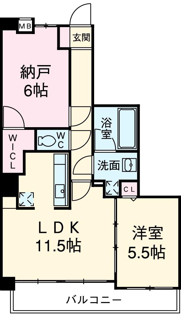 レジディア三軒茶屋Ⅱ 102号室の間取り